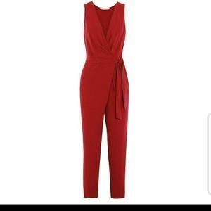Diane Von Furstenberg Cordia Red Jumpsuit